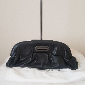 ALEXIS  HUDSON  LEATHER CLUTCH BAG  .
